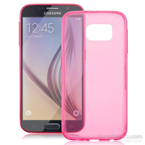 Case 4U Samsung Galaxy S6 Ultra İnce Pembe Silikon Kılıf