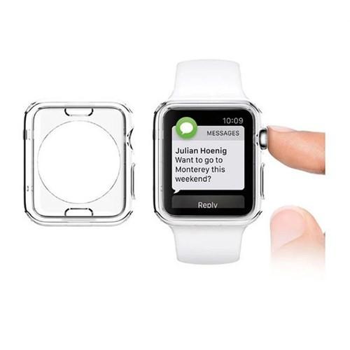 Lopard Apple Watch Kılıf 38 Mm Clear Transparent 0.2Mm Şeffaf Kapak
