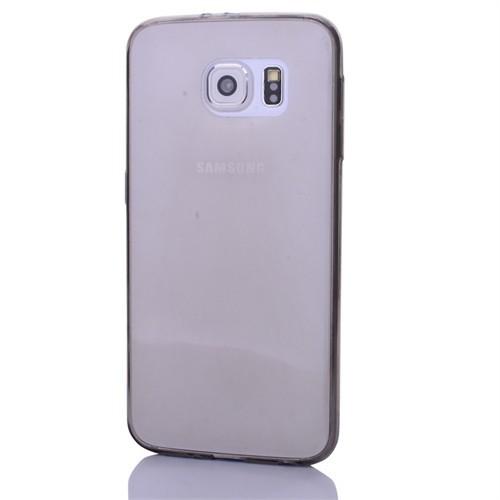 Cep Market Samsung Galaxy S6 Edge Plus Kılıf 0.2Mm Antrasit Silikon