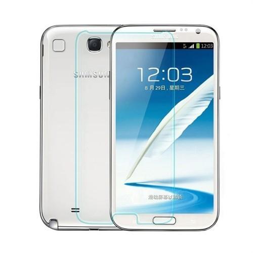 Teleplus Samsung Galaxy Note 2 Plastik Ve Cam Ekran Koruyucu Karışımı Cam Ekran Koruyucu