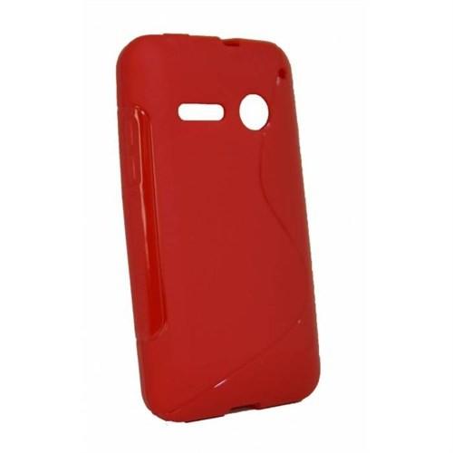 Teleplus Vodafone Smart 4 Power Tam Korumalı Silikon Kılıf Kırmızı