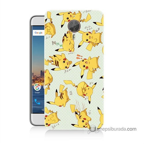 Teknomeg General Mobile Discovery Gm5 Plus Kapak Kılıf Pokemon Pikachu Baskılı Silikon