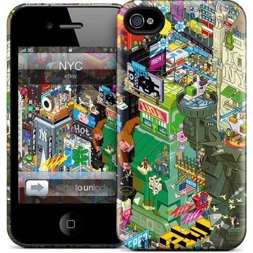 Gelaskins Apple iPhone 4 Hardcase Kılıf Nyc