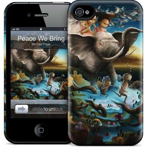 Gelaskins Apple iPhone 4 Hardcase Kılıf Peace We Bring