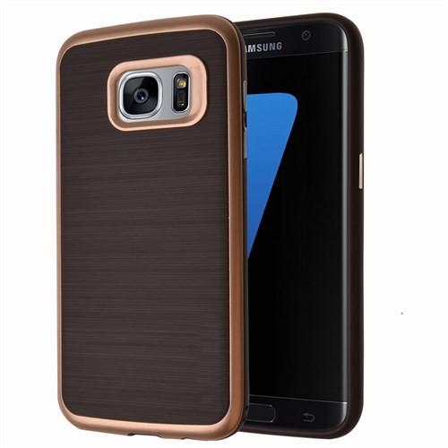 Microsonic Samsung Galaxy S7 Edge Kılıf Slim Heavy Duty Gold