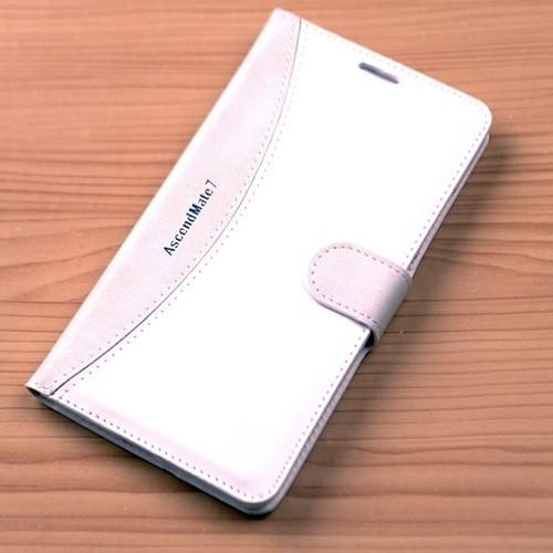 Teleplus Huawei Ascend Mate 7 Cüzdanlı Özel Kılıf Beyaz