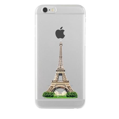 Remeto Samsung Galaxy S5 Mini Transparan Silikon Resimli Eyfel Kulesi