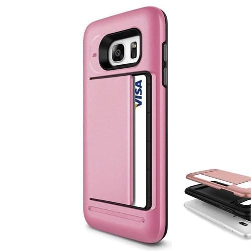 Teleplus Samsung Galaxy Note 5 Çift Koruma Cüzdanlı Kapak Kılıf Pembe
