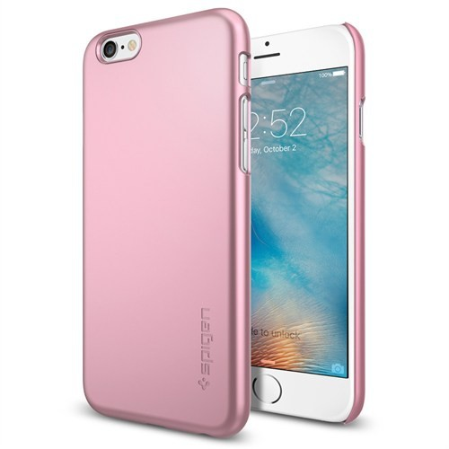 Spigen Apple iPhone 6S Kılıf Thin Fit Ultra İnce Metallic Rose - 11787