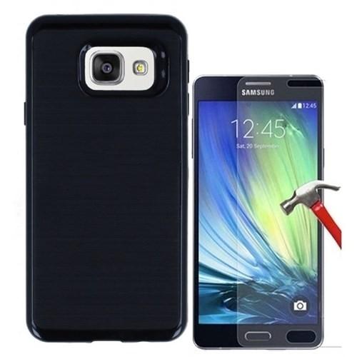 Kılıfshop Samsung Galaxy A7 2016 Kılıf Infinity Motomo (Siyah) + Ekran Koruyucu