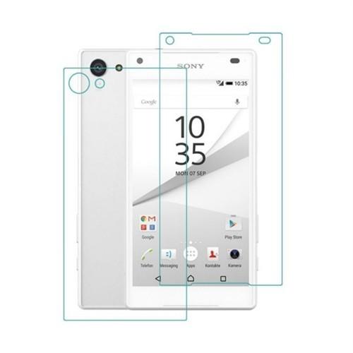 Teleplus Sony Xperia Z5 Compact Ön Ve Arka Cam Ekran Koruyucu Cam Ekran Koruyucu