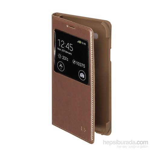 Inovaxis Samsung E5 Flip Cover Kapak-Kılıf-Altın