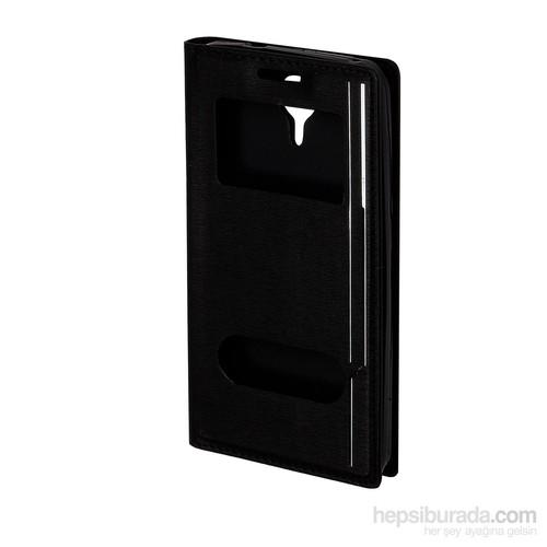 Inovaxis General Mobile Discovery 4G İnce Ve Koruyucu Magnum Kılıf Kapak Siyah