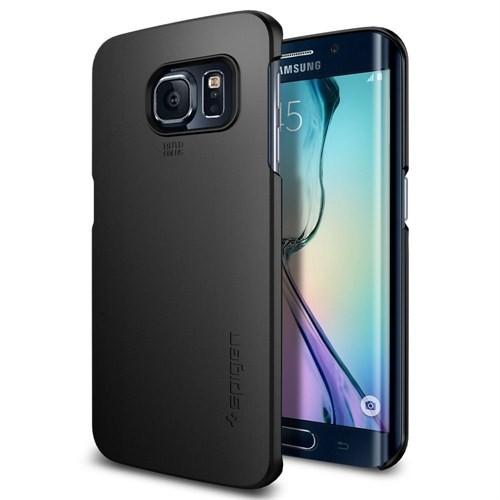 Spigen Samsung Galaxy S6 Edge Kılıf Thin Fit - Smooth Black - 11408