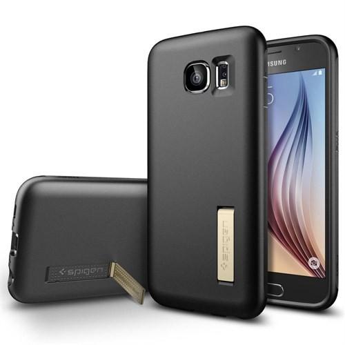 Spigen Samsung Galaxy S6 Kılıf Capsule Solid - Black - 11436