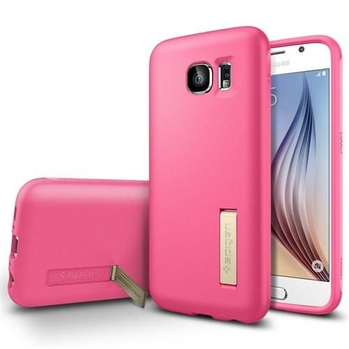 Spigen Samsung Galaxy S6 Kılıf Capsule Solid - Azalea Pink (Pearl) - 11437
