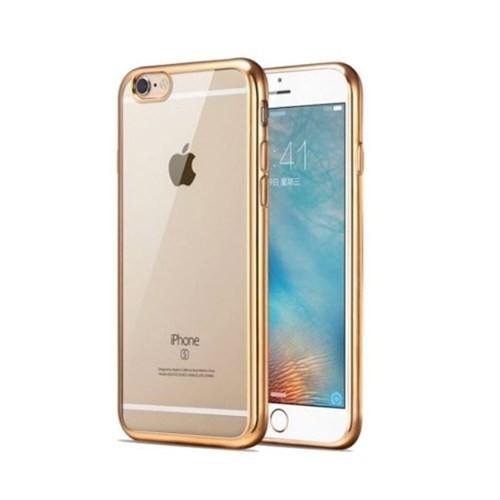 Teleplus İphone 6S Lazer Silikon Kılıf Gold