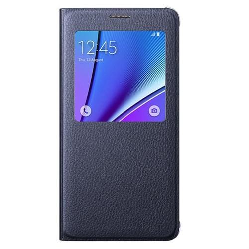 Samsung Galaxy Note 5 S-View Kapaklı Kılıf Siyah - EF-CN920PBEGTR