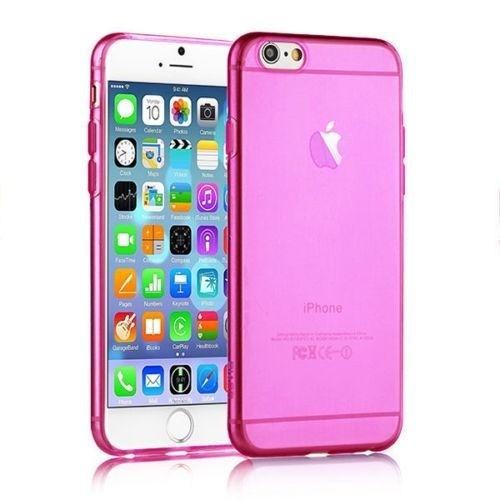 Qapak iPhone 6 Silikon Şeffaf Kapak Pembe uz244434009315