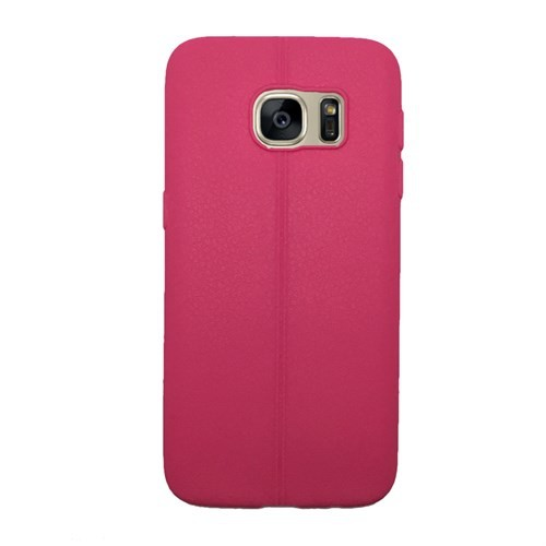 Melefoni Samsung Galaxy S7 Kılıf Silikon İnce Deri Görünümlü