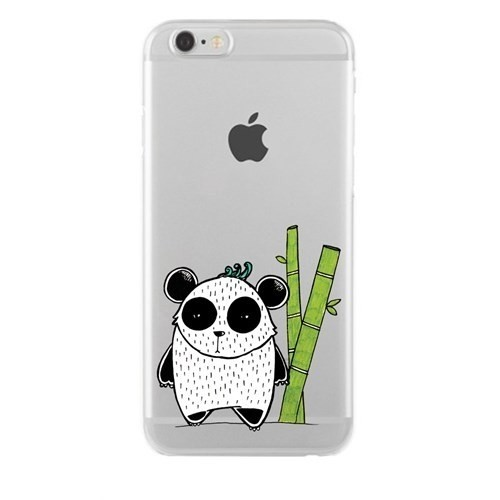 Remeto Samsung Galaxy Grand 2 Transparan Silikon Resimli Bambulu Panda