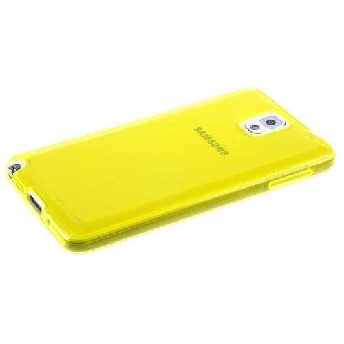 Qapak Samsung Galaxy Note 3 Silikon Korumalı Kapak Sarı uz244434007540