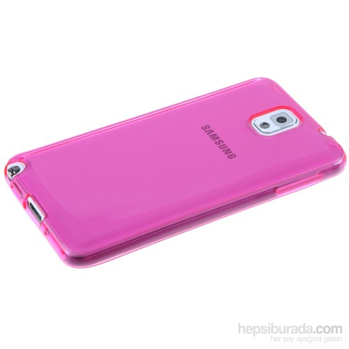 Qapak Silikon Korumalı Kapak Samsung Note 3 Pembe uz244434007544