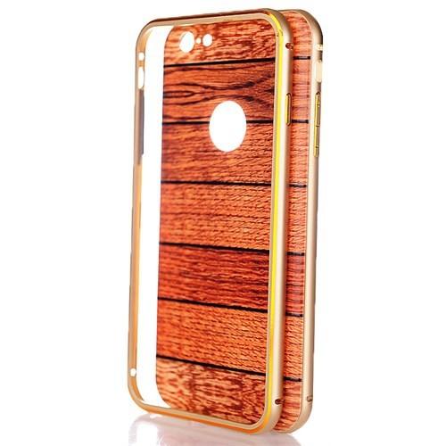CoverZone İphone 6S Plus Kılıf Ahşap Görünümlü