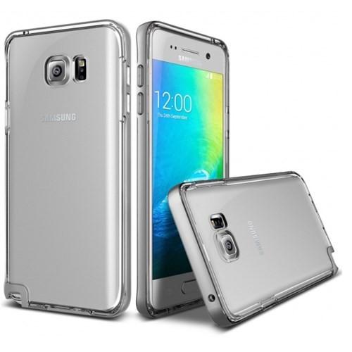 Verus Samsung Galaxy Note 5 Kılıf Crystal Bumper Light Silver
