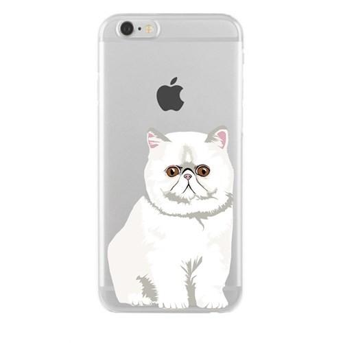 Remeto Samsung Galaxy S3 Mini Transparan Silikon Resimli Şaşkın Kedi Kedisi