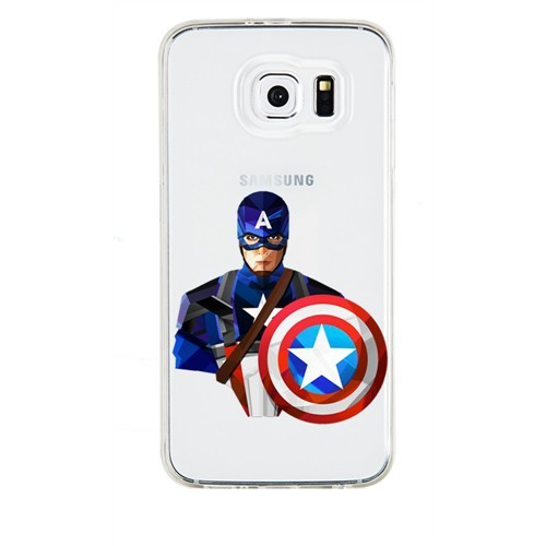 Remeto Samsung Galaxy Grand 2 Transparan Silikon Resimli Captain America