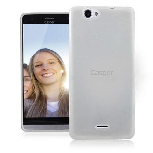 Teleplus Casper Via V5 Darbeye Dayanıklı Silikon Kılıf Beyaz