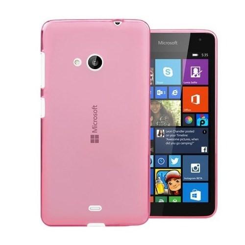Teleplus Nokia Lumia 535 Silikon Kılıf Pembe