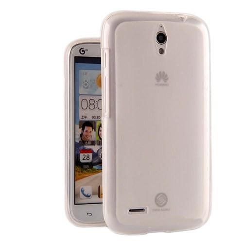 Microsonic Glossy Soft Kılıf Huawei Ascend G610 Şeffaf Beyaz