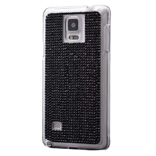 Teleplus Samsung Galaxy Note 4 Taşlı Rubber Kapak Siyah