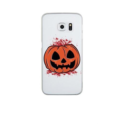 Remeto Samsung Galaxy S3 Mini Cadılar Partisi Balkabağı Transparan Silikon Resimli Kılıf