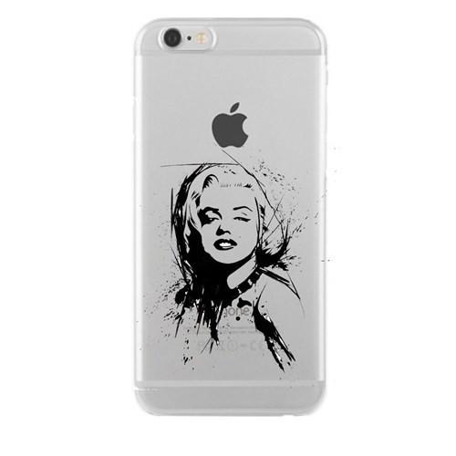 Remeto Samsung Galaxy S3 Mini Marilyn Monroe Transparan Silikon Resimli Kılıf