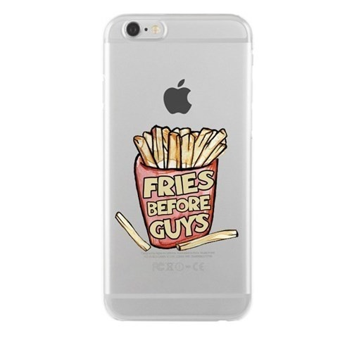 Remeto Samsung Galaxy S3 Mini Fries Before Guys Transparan Silikon Resimli Kılıf