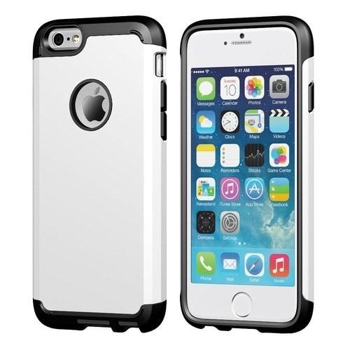 Teleplus İphone 6 Çift Katmanlı Korumalı Kılıf Beyaz