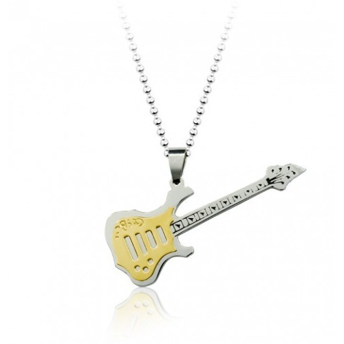 Betico Fashion Sarı Gitar Kolye