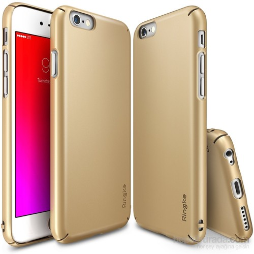 Ringke Slim iPhone 6s Plus/ 6 Plus Kılıf Royal Gold - 4 Tarafı Saran İnce Şık Tasarım
