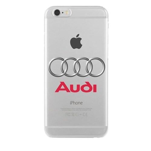 Remeto Samsung Galaxy A7 Audi Logo Transparan Silikon Resimli Kılıf