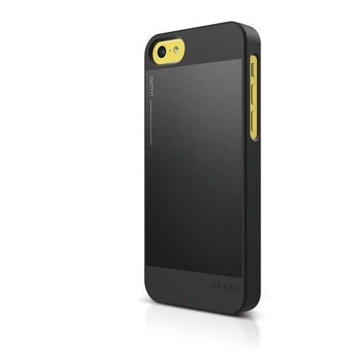 Elago Apple iPhone 5C S5 Outfit Series-Siyah (Ekran Koruyucu Hediye)