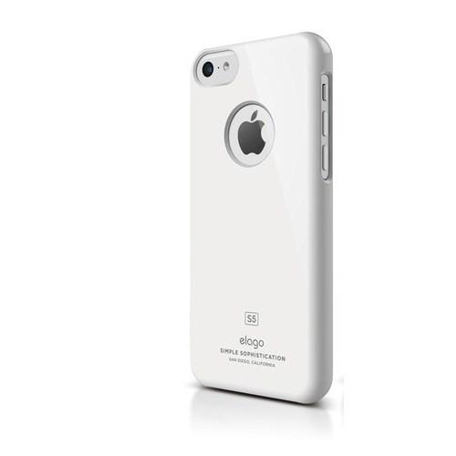 Elago Apple iPhone 5C S5 Slim Fit Series-Beyaz (Ekran Koruyucu Hediye)