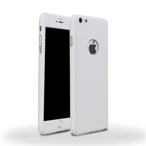 4Rmor Apple İphone 6/6S Plus Kılıf 360 Derece Tam Koruma Beyaz