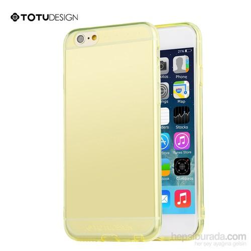Totu Design Apple iPhone 6 Plus Soft Sarı Kılıf