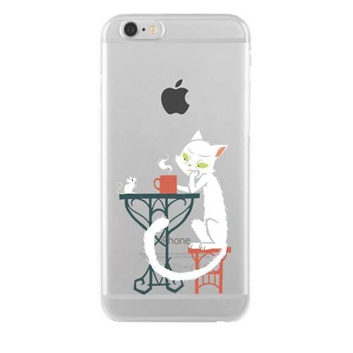 Remeto Samsung Galaxy A7 Transparan Silikon Resimli Efkarlı Kedi