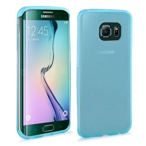 Teleplus Samsung Galaxy S6 Edge Plus Silikon Kılıf Mavi