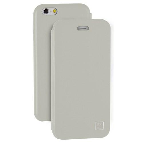 Uniq Apple iPhone 6/6S Covet Kapaklı Deri Kılıf Beyaz