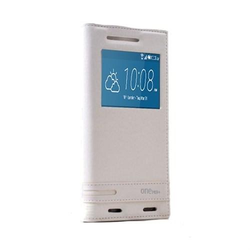 Teleplus Htc One M9 Plus Pencereli Kılıf Beyaz